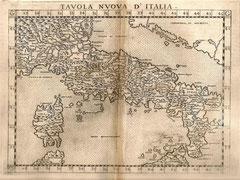 Carta Italia nel 1574