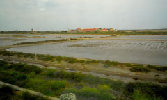 salines, étang de Bages, canal de la Robine, la Méditerranée