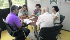 Jose Mª Mori - Presidente; Arancha Martinez - Vicepresidenta; Carlos Ayer - Gerente; Asunción García - Direct. Asunt. Sociales