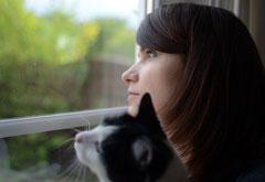 Foto von Henriette Werner mit Katze