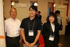 写真左から、稲川孝司先生、勝田浩次先生、田中亜友美氏
