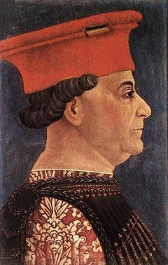 Francesco Sforza in un ritratto di Bonifacio Bembo