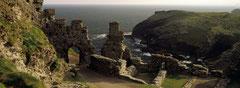 Les ruines du château de Tintagel en Cornouailles.