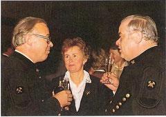 Gute Freunde: Heribert Riedler und Familie Ebenbichler im Jahr 1984