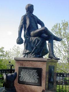 Jung Bismarck Denkmal auf der Rudelsburg