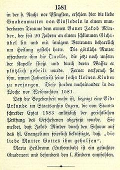Luthern Bad, Text Rückseite Gnadenbild Schill Luzern