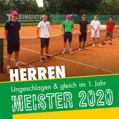 MIT ABSTAND DIE BESTEN – Unsere Meistermannschaft (von links nach rechts): Lukas Wissel, Luca Langner, Lukas Brückner, Colin Kullmann, Ben Welling und Marvin Kullmann.