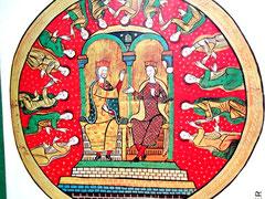 König Alfons II. von Aragonien und seine Gattin Sancha von Kastilien (Liber Feudorum)
