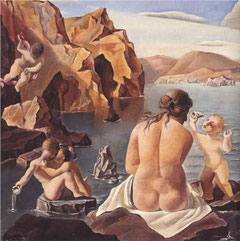 Dali: Venus mit Cupidofiguren (1925). Quelle: WikiPaintings, Recht: Fair use