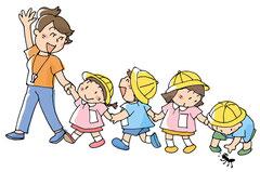 保育園の散歩コースなど危険のある経路の洗い出しをしよう