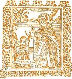 Antica stampa di san Giorgio