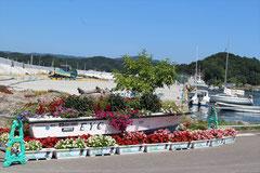 リアスハーバー宮古「フラワーボート」から咲きこぼれる花々