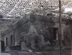 Vue probable du Bau n°2 dans son état au départ de l'armée allemande. Photographie prise le 1er Septembre 1944 par les troupes américaines.