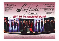 """Am Samstag, 2. März, feiert """"Auftakt"""" im neuen Kaisersaal mit einem Konzert sein zehnjähriges Bestehen."""