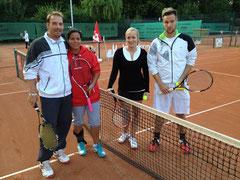 Finale im Mixed:v.l. Malte Chowansky,Carola Barkow,Lisa Tipke,Sebastian Koch