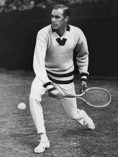 Билл Тильден - десятикратный победитель турниров Большого шлема в одиночном разряде и одиннадцатикратный - в мужском парном и смешанном парном разрядах
