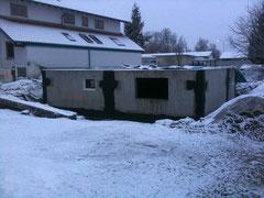 Unser von Seiten Glatthaar fertig abgedichteter Keller am heutigen Morgen