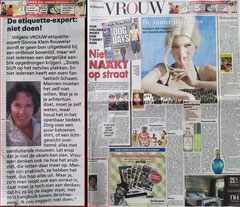 Imago en etiquette Deskundige Gonnie Klein Rouweler Telegraaf VROUW.nl niet 'naakt' op straat