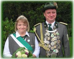 Königspaar Anja & Matthias Mannier