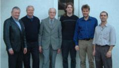 von links: Franz Wappel, Gerhard Dubszka, Gottlieb Hangl, Wolfgang Jelinek, Thomas Loidl, Günter Grünwald