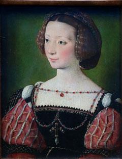 Bildnis der Beatrix Pacheco, Gräfin von Montbel und Entremonts, Francois Clouet, ca. 1550, Städel, Frankfurt. Foto: Nina Möller - Mode Epochen