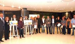 Les lauréats avec les élus et les membres du jury (photo Corse Net Info)