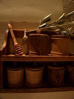 Olivenholz bevorratet wildes Gewürz