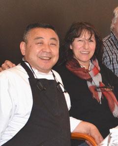 Saburo Inada (à gauche !) et Christine Civale