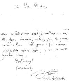 Lettre manuscrite