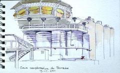 """Joli croquis de la tour """"Bouteillé"""" à 3 étages"""
