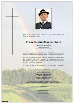 Franz Demmelbauer-Ebner, sen.