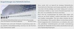 "Helmholtz-Gemeinschaft, ""Ausgründungen aus Helmholtz-Zentren"", März 2011"