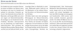 """Helmholtz-Gemeinschaft, """"Strom aus der Sonne"""", November 2010"""