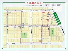2014年(平成26年)烏森神社例大祭 大神輿巡行図