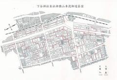 2015年(平成27年)下谷神社例大祭 本社神輿山車渡御道筋図