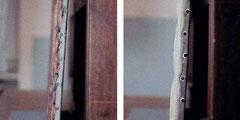 Restaurierung: Anränderung der Leinwand