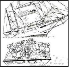 海上からの本船撮影会