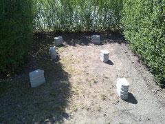 Rasenfläche vorher