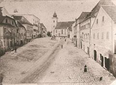 Marktplatz vor dem Brand 1890