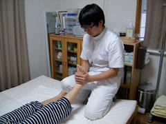 足首の関節モビリゼーション