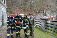 v.l.n.r. Pitschek Christian, Becker Schadt Hannes, Standmann Rene, ATS-Beauftragter Pitschek Friedrich