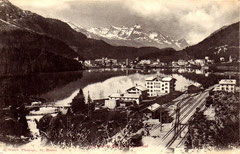 Verlag R. Guler, St. Moritz. Karte gelaufen am 10.9.1906