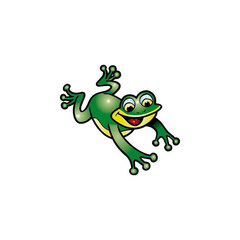 dessin d'une grenouille qui saute