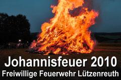 Johannisfeuer in Lützenreuth