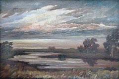 Worpsweder Landschaft (Ölgemälde von Heinz Dodenhoff)