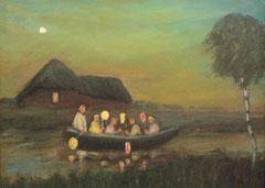 Hans Pick: Laternenkinder auf der Hamme