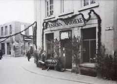 Heger Str.4-während des zweiten Weltkrieges wurde die Einhorn-Apotheke in die Altstadt ausgelagert.
