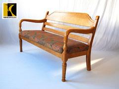 飛騨産業キツツキ 穂高シリーズ LDベンチアームチェア 肘掛長椅子(HK280)2人掛け中古家具