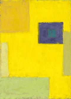 Abstraktions in Gelb/Öl