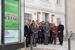 Vizebgm. Mag. Wolfgang Derler begrüßte die Teilnehmerinnen und Teilnehmer zur Lehrerführung durch das Museum Krems. Foto: Stadt Krems.